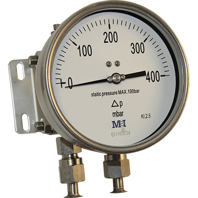 stainless differential pressure gauge