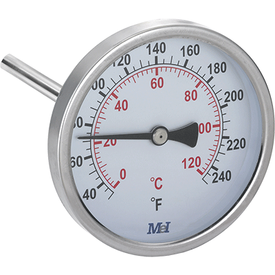 stainless thermometer for heating and air conditioning